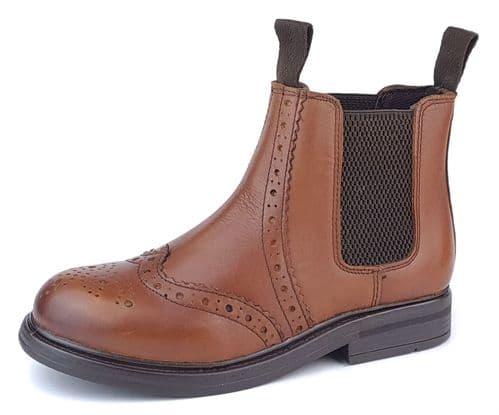 Frank James - Wrexham 3255 Boys Girls Chelsea Boots Brown
